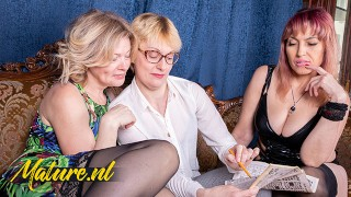 MatureNL - Three Naughty Girlfriends Eating Each Others Hairy Pussies
