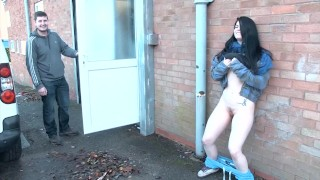 Beauty Lucia Love pissing outdoors