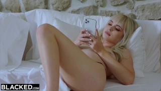 BLACKED BBC-Hungry tiny Blonde gets creampied by roommate