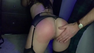 She loves a good spanking - submissive BIG ass turns red