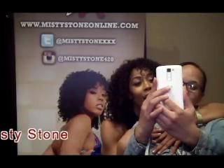 Misty Stone with Jiggy Jaguar AVN 2017 Interview
