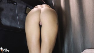 Sexy Girl Trying on Panties and Demonstrate Beautiful Butt