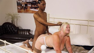 GRANNYLOVESBLACK Interracial Assfucking With Lacey Starr