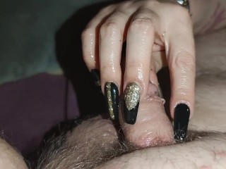 Edging Oil handjob with long nails *trailer*