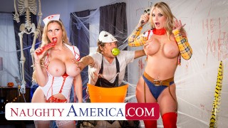 Naughty America – MILFs in costume, Casca Akashova & Rachael Cavalli, need some dick after a big sca