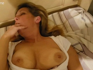 Friends Busty Cougar Mom Fucks my Hard Young Cock.