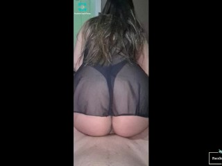 My ex girlfriend rides in Sexy lingerie! Big Latin ass!