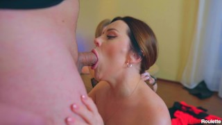 She fucked for the first time on camera and swallow cum