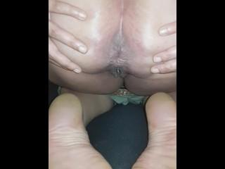 Big ass latina fart on her feet