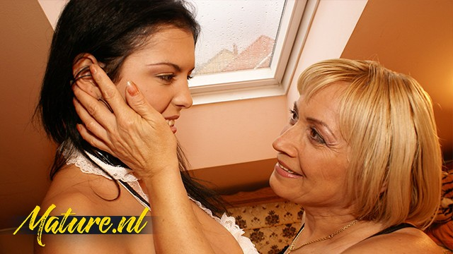 Hairy Granny Fucking a Big Tits Teen