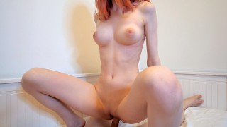 Hot Redhead Girl Swallows Cum After Hard Fuck – Cum in Mouth