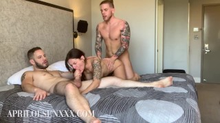 Stunning Bisexual Threesome, Everyone Plays with April Olsen, Wolf Hudson, and Steve Rickz