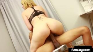 Office Sex Queen Sara Jay Milks Her Co Workers Hard Dick!