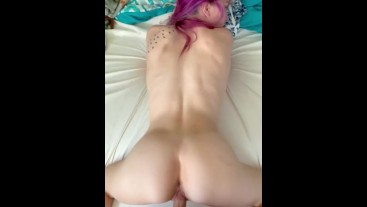 Quick Twerk on Cock to start our morning...doggie POV pussy pounding