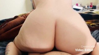 PAWG Ridding Reverse Cowgirl