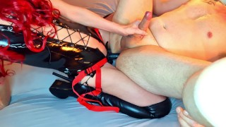 4k, He made me cum hard, So i treated his ass to a pegging By Miss19Red