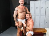 MenOver30 - Mature French Daddy Eats Hairy Asshole In Locker Room