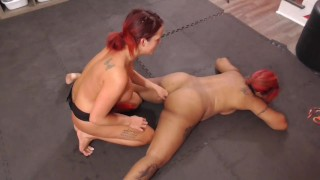 Academy Interracial lesbians catfight and dominates each other with dildo fucking and pussy finger
