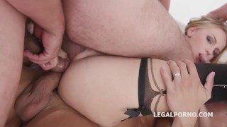 double and triple pussy and anal penetration, gangbang party