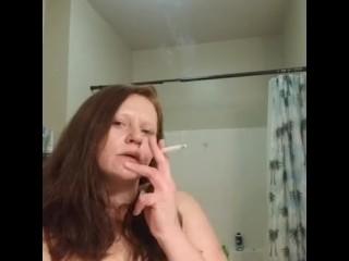 All natural red head smoking/smoking fetish
