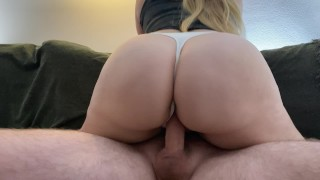 Fucked a girl with a fat ass through panties
