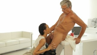 OLD4K Old boss penetrates tanned secretary in several sex positions