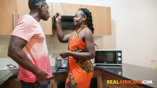 Ebony Pussy Licking The Back