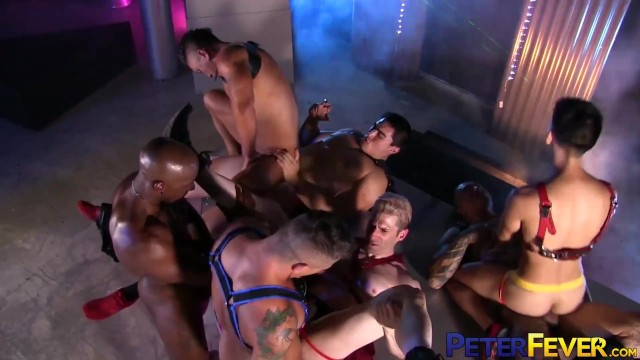 PETERFEVER Interracial Cosplay Orgy Stud With Max Konnor