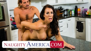 Naughty America – Hot Mom Reagan Foxx fucks and sucks on cock