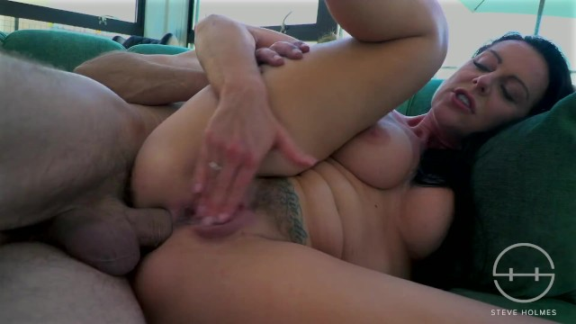 Sexy busty Texas Patti licking my ass and sucking my giant cock