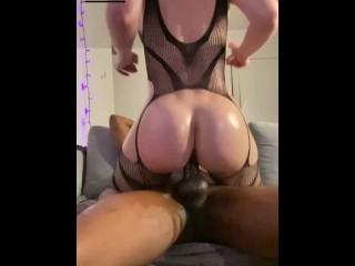 oily pawg makes bbc creampie her