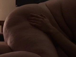 Bbw rides cock then gets pounded