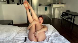 Solo masturbation and orgasm by a pretty girl LeoKleo