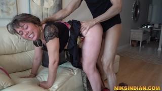 Horny milf seduces boyand enjoys rough sex with loud moaning