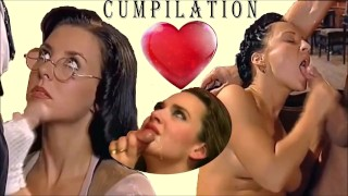 TOP CUMPILATION BLOWJOB Vintage celebrity pornstars finish blowjob cum mouth CUMSHOT COMPILATION