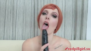 black dildo solo masturbation redpillgirl part 2