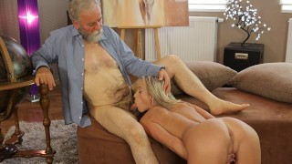 OLD4K Experienced teacher doesnt waste chance to fuck hot disciple