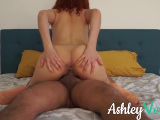 Passionate Morning Sex Until I Cum on Her Face and Tits - Ashley Ve