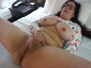 Slutty Wife Masturbates in Hotel Room