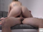 amateur couple fucks at home in many different positions until the cum is in the pussy (part 1)