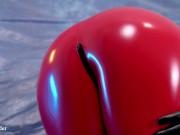 Hot PVC teasing, fetish beautiful video. Mistress Arya Grander in red vinyl clothing.