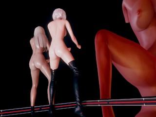 MMD Kara – Mister StripVers. 2B A2 NierAutomata 3D Erotic Dance