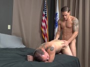 ActiveDuty - Army Stud Shows Friend How To Take Dick