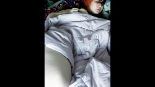 Chubby babe wakes up horny