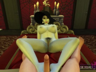 Resident Evil 8: Lady Dimitrescu Has Sex With Me In Her Bedroom POV - Sexual Hot Animations
