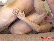 Horny granny 70yo gets a creampie from a young step grandson amateur creampie porn