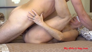 Horny granny 70yo gets a creampie from a young step grandson