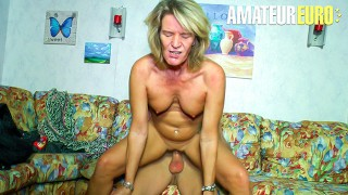 XXXOmas Slutty German Granny Gets Her Pierced Pussy Fucked By Young Stud AMATEUREURO
