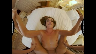 Tonights Girlfriend Aila Donovan gives fan the treatment he has been yearning for