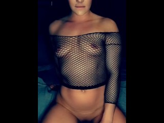 Edging my wet horny little pussy on my bed and BBC while playing with my tits until I cum!